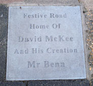 plaque on Festing Road