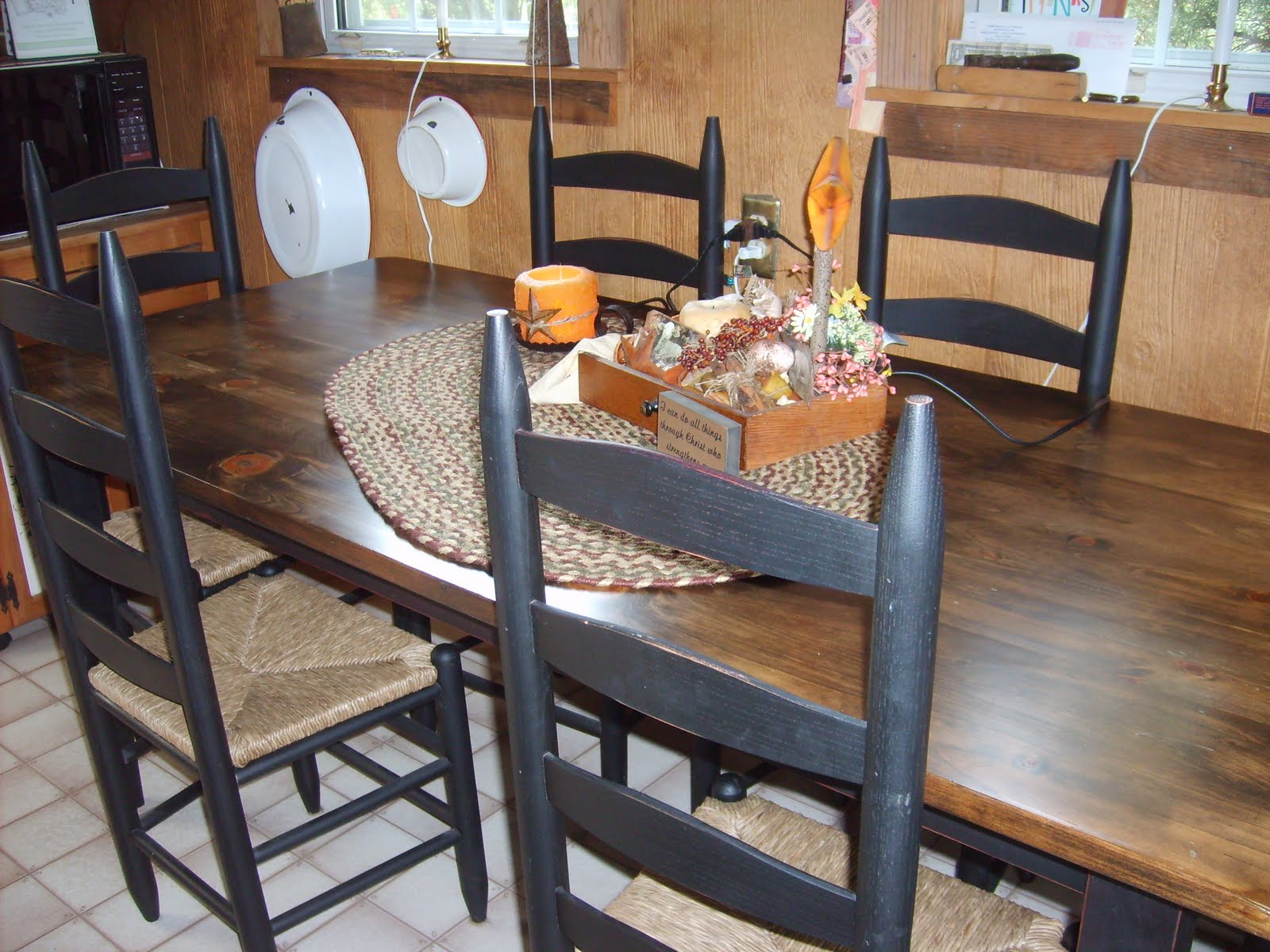Farmers Dining Table And Chairs Massage Chair Brookstone Farmhouse Prims Amish Made Kitchen
