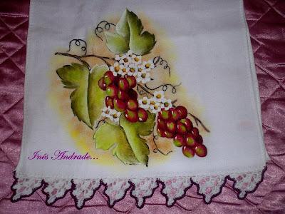 Pintura em tecido,uvas