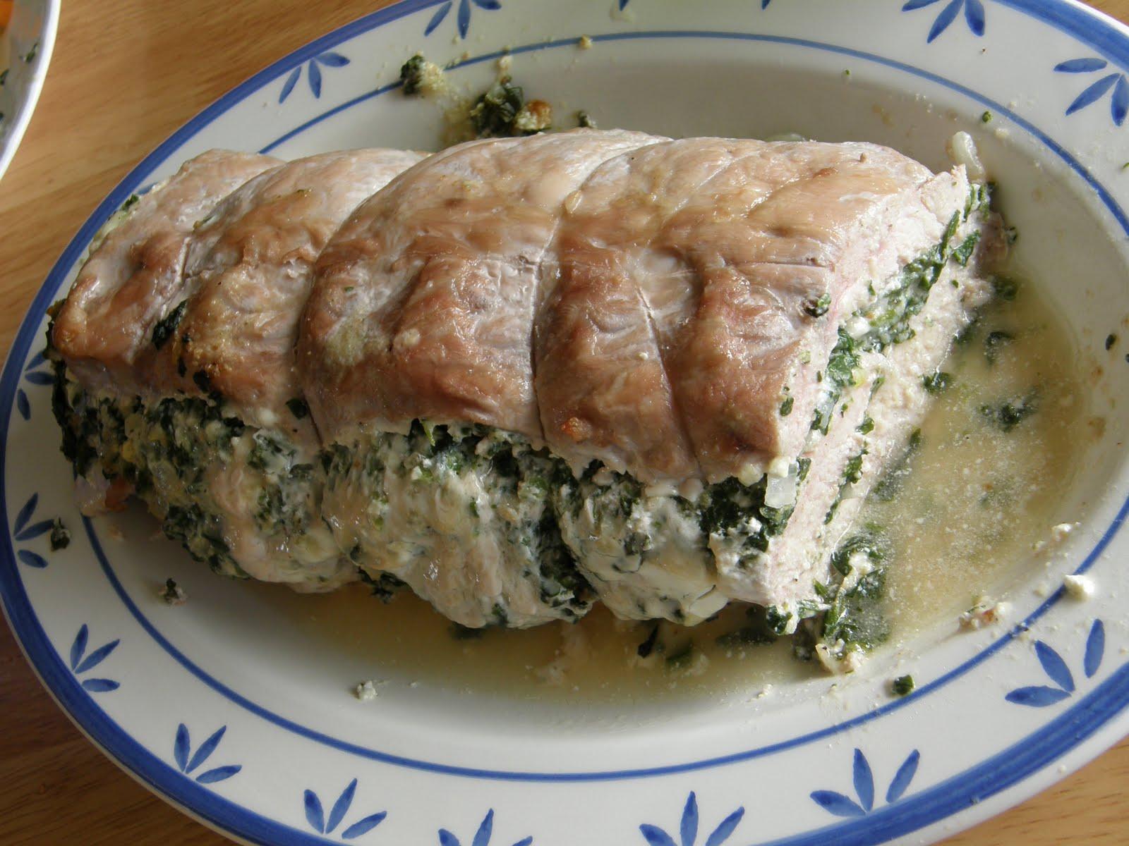Bacon Wrapped Pork Loin Sauce Basil