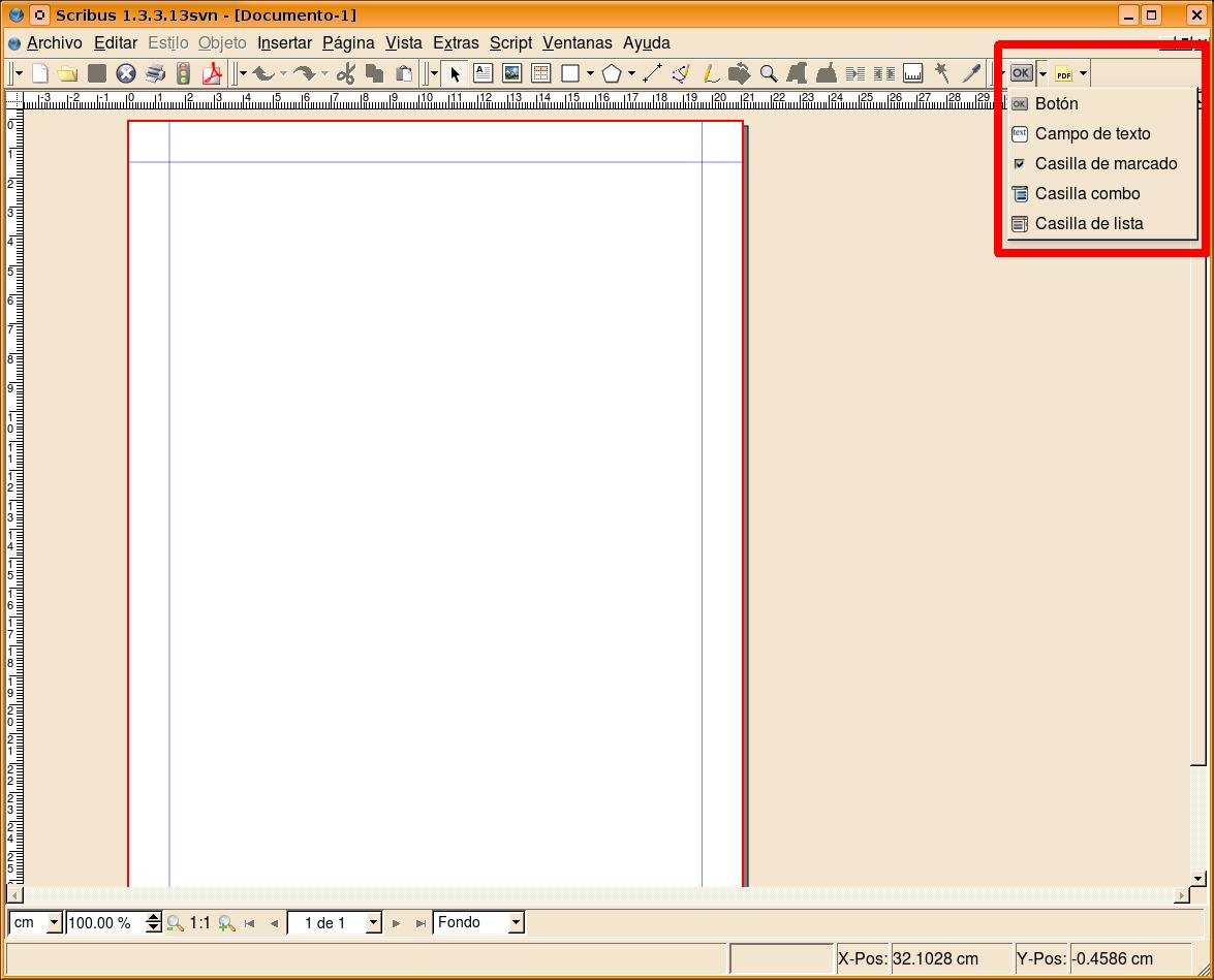 UsuarioDebian: Scribus, Crear formularios editables en pdf