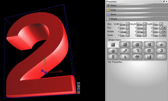 3D Text Logo Animation Design | Aurora3D Software: Photoshop and