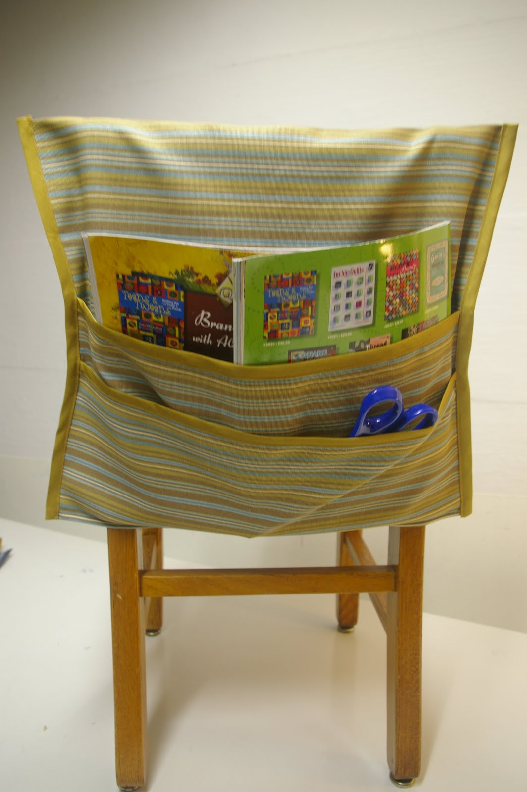 No Sew Chair Pockets Portable Camping The Scarlet Thread Seat Sacks Or Hangaroos