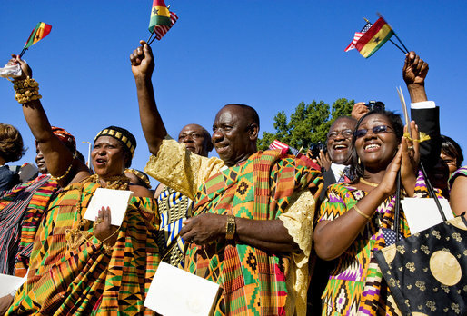 Ghanaian community in USA wearing Kente on Ghana`s independence celebration