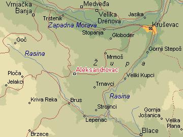 aleksandrovac srbija mapa Per@ Travel: ALEKSANDROVAC aleksandrovac srbija mapa