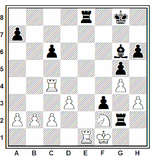 Posición de la partida de ajedrez Ivasuk - Riklis (URSS, 1982)