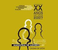 Cartel del XX Torneo Magistral de Ajedrez Ciudad de León