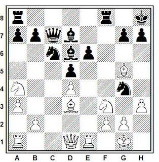 Posición de la partida de ajedrez Corsario - Solotti (Correspondencia, 1998)