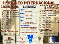 II Torneo Internacional de Ajedrez Cáceres 2016, Ciudad Europea de la Cultura