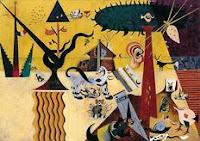 Óleo sobre lienzo titulado Tierra labrada pintado por Joan Miró