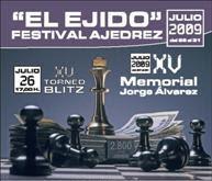 Cartel del XV Memorial de Ajedrez Jorge Alvarez