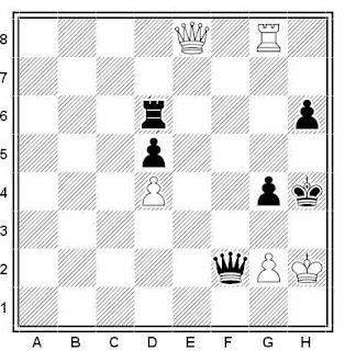 Posición de la partida de ajedrez Androwizki - Kosa (Hungría, 1970)