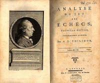 Libro Análisis del juego del ajedrez de Philidor