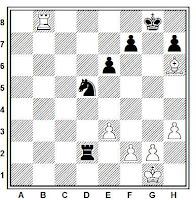 Posición básica de ajedrez del mate de Morphy