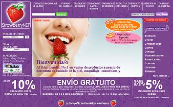 Venta cosmeticos Strawberrynet