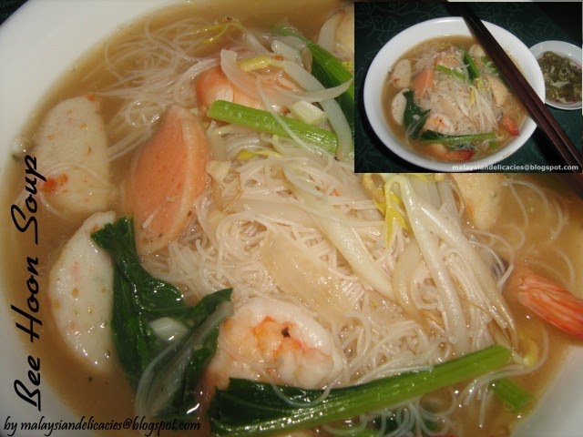 Bee Hoon Soup Rice Vermicelli Soup