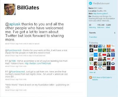 Bill Gates Ketinggalan Jaman, Baru bikin Twitter Sekarang