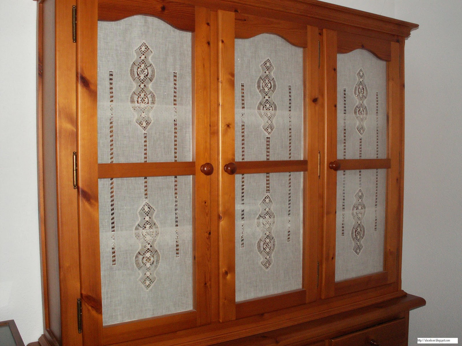 A bobbin lace lover cortinas de encaje de camari as para for Cortinas de encaje