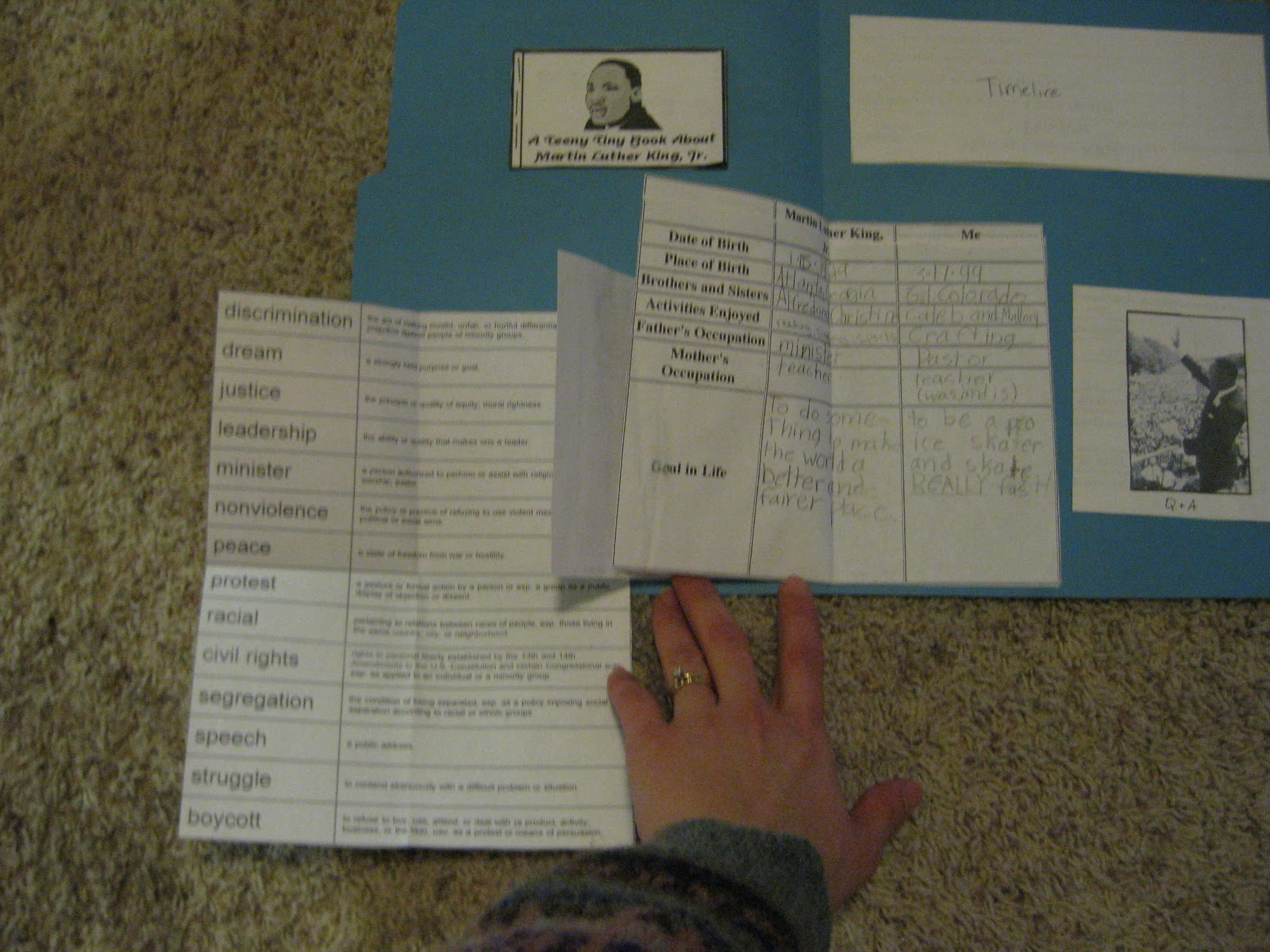 Thy Word Martin Luther King Jr Lapbook
