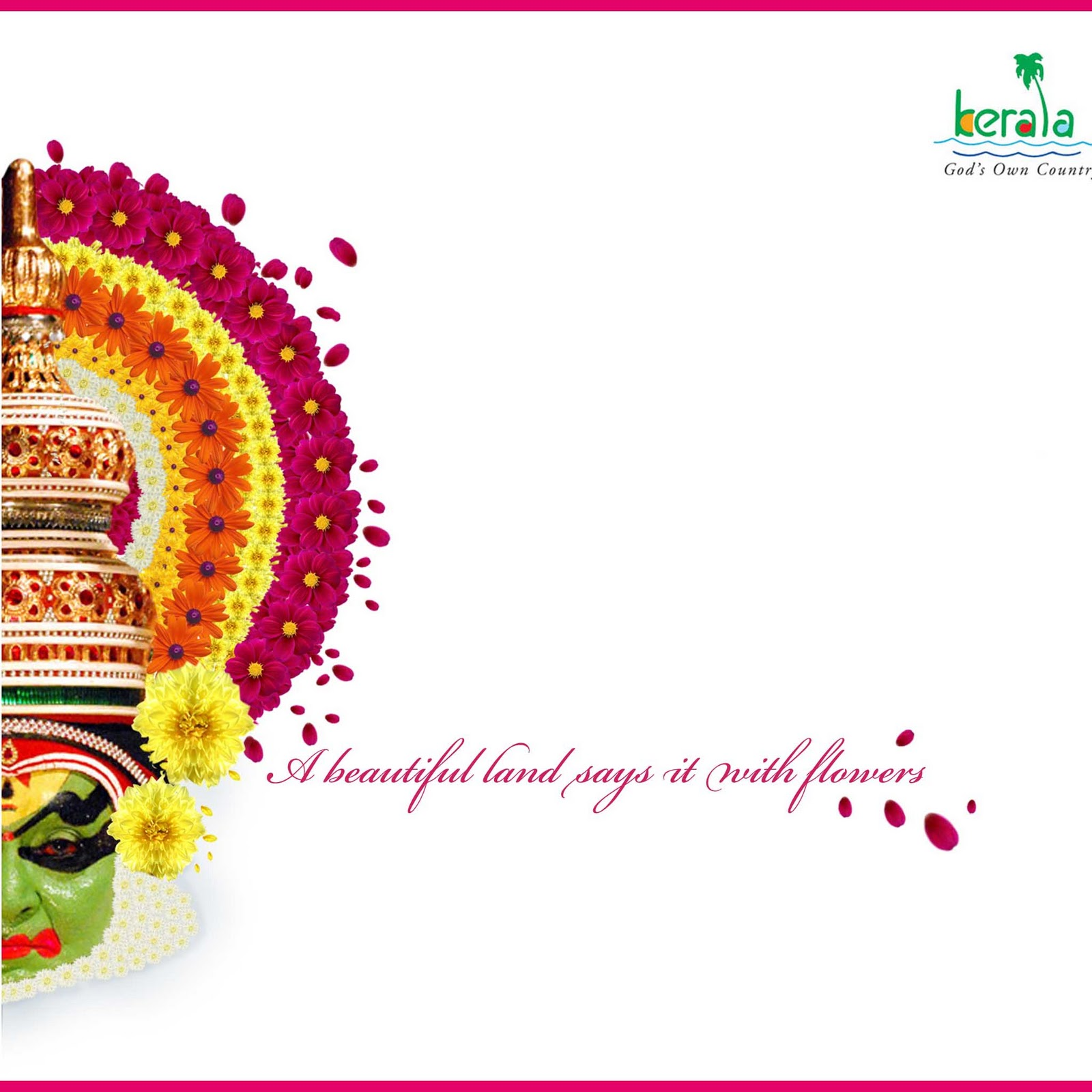 15 Best Images About Kerala Tourism: Creative Design Area: Kerala Tourism Onam Greeting Card 2010