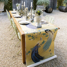 Wallpaper as table runner
