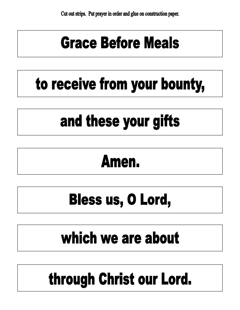 medium resolution of The Catholic Toolbox: Grace Before Meals Prayer Activities