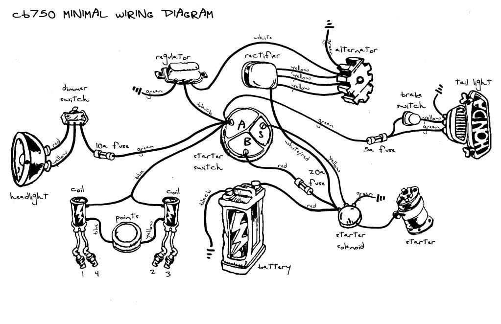 cb750 chopper wiring diagram