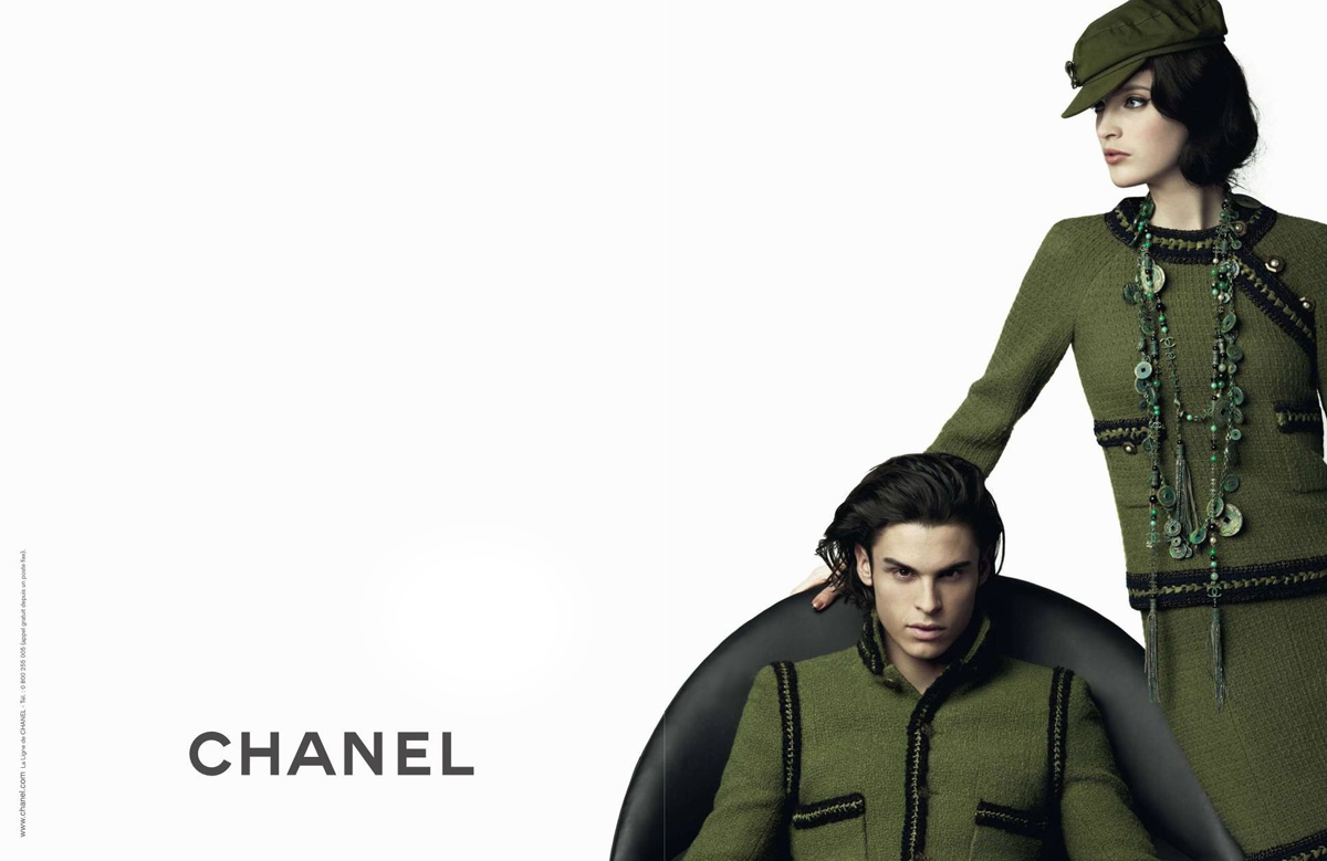 426796f326b5 Model  Baptiste Giabiconi and Mirte Maas Photography by Karl Lagerfeld  Website  www.chanel.com. After preview of Mirte s solo Chanel Pre-Fall  advert, ...