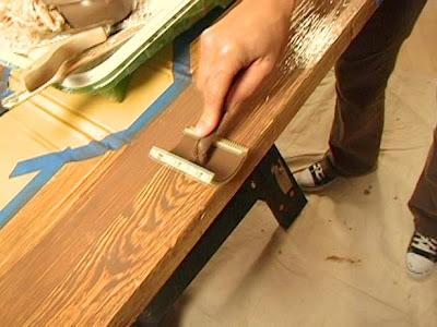 Veteado imitaci n madera - Como pintar una puerta de madera con brocha ...
