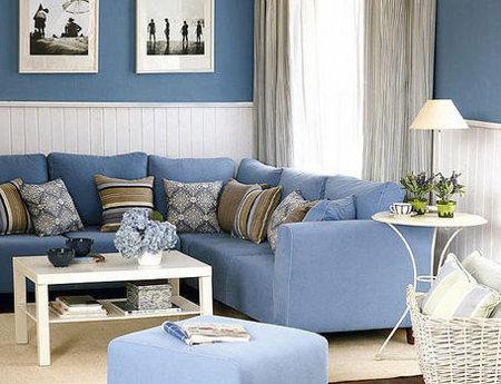 Cuatro alternativas para el sal n for Sala gris con azul