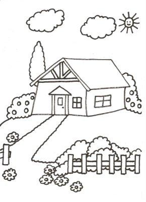 Dibujos Para Colorear De Casas Con Jardin Dibujos De Casas