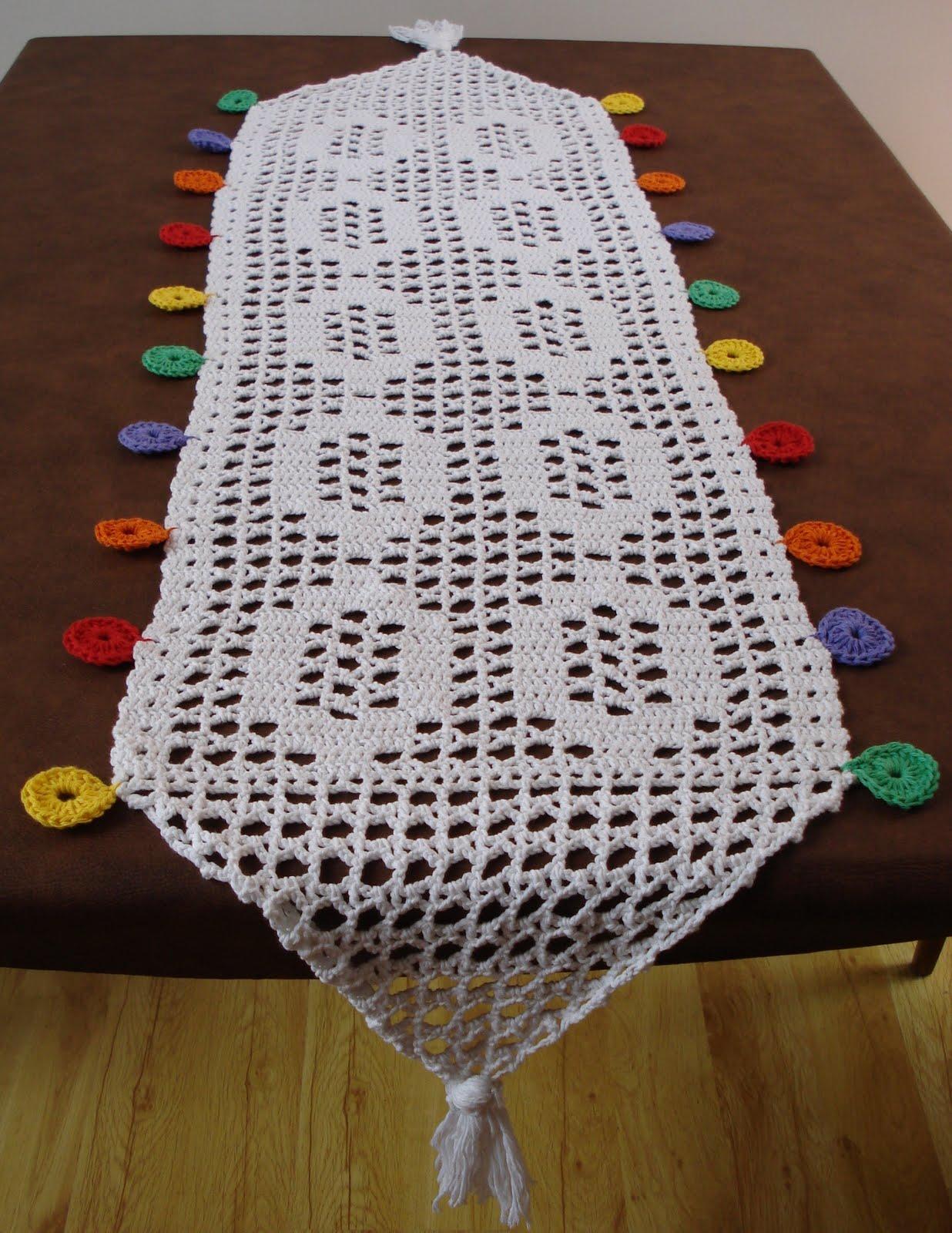 Vistoso Crochet Patrón De Tela De Mesa Componente - Manta de Tejer ...