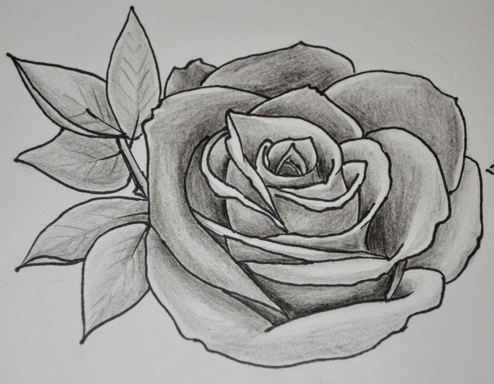 Dongetrabi black and white shaded flower drawing images