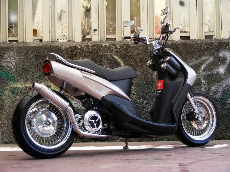 Modifikasi Motor Matic Mio Sporty minimalist LOW RIDER