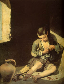 Beggar Bartolomé Esteban Murillo Spanish painter baroque boy child rapaz criança pintura O Pedinte