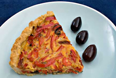 Red Pepper and Tapenade Tart