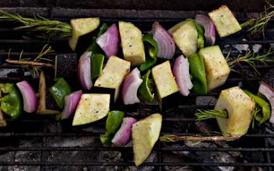 Eggplant Kebabs on the Grill