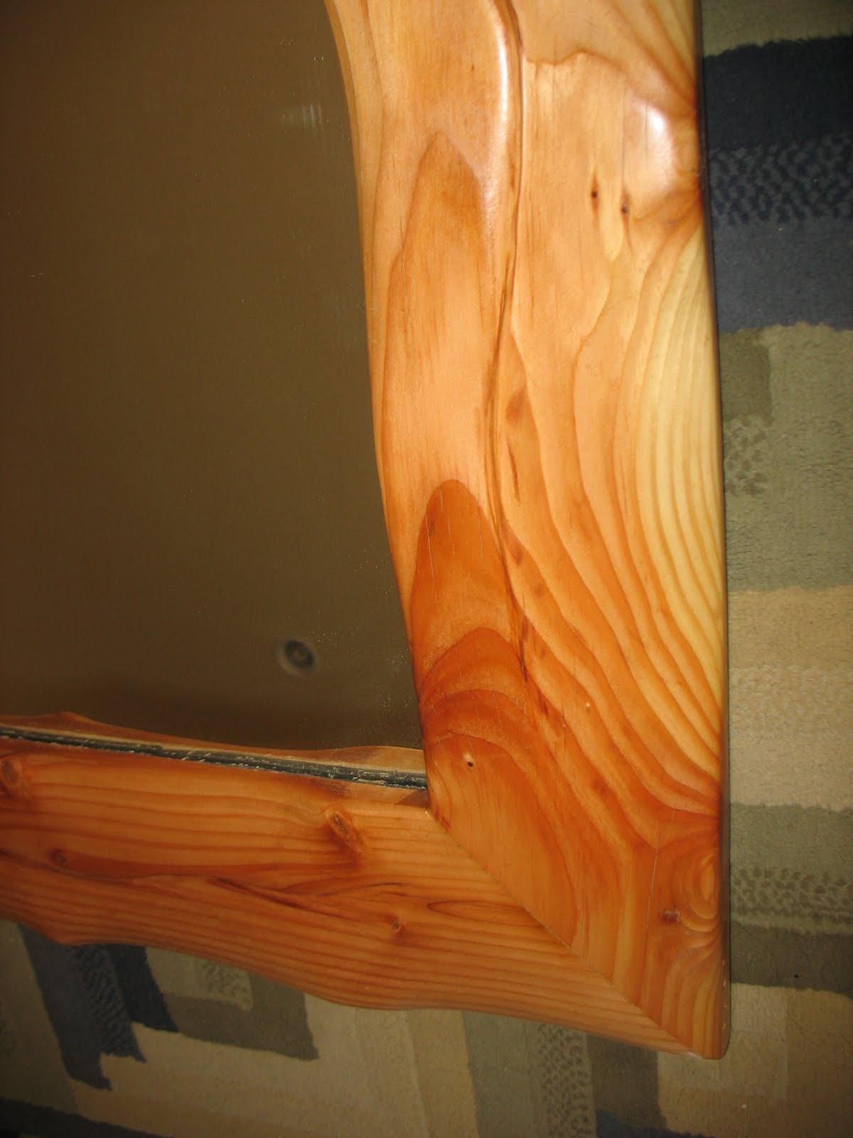 Lost In Desert Designs Knotty Pine Curvy Mirror
