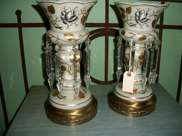 Orange Moon Steampunk Vanity Lamps