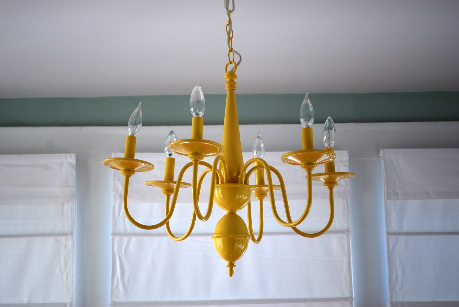In The Little Yellow House Sun Room Chandelier