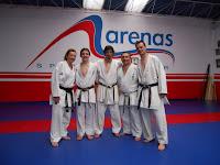 Ángel Ramiro, Ángel Arenas, gimnasio Arenas, Asturias, karate, kumite