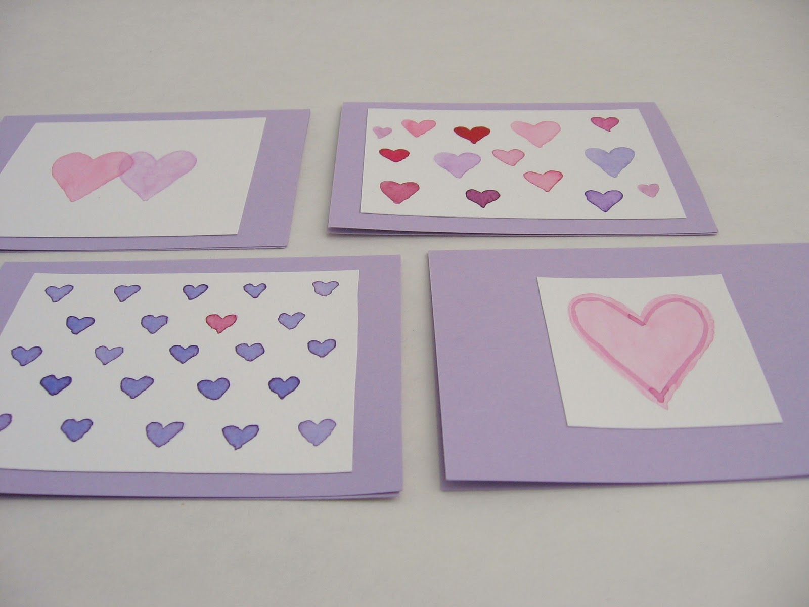 Needle And Spatula Handpainted Watercolor Valentines Cards How To
