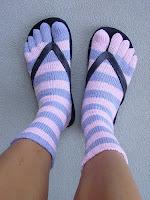 chaussettes doigts de pieds