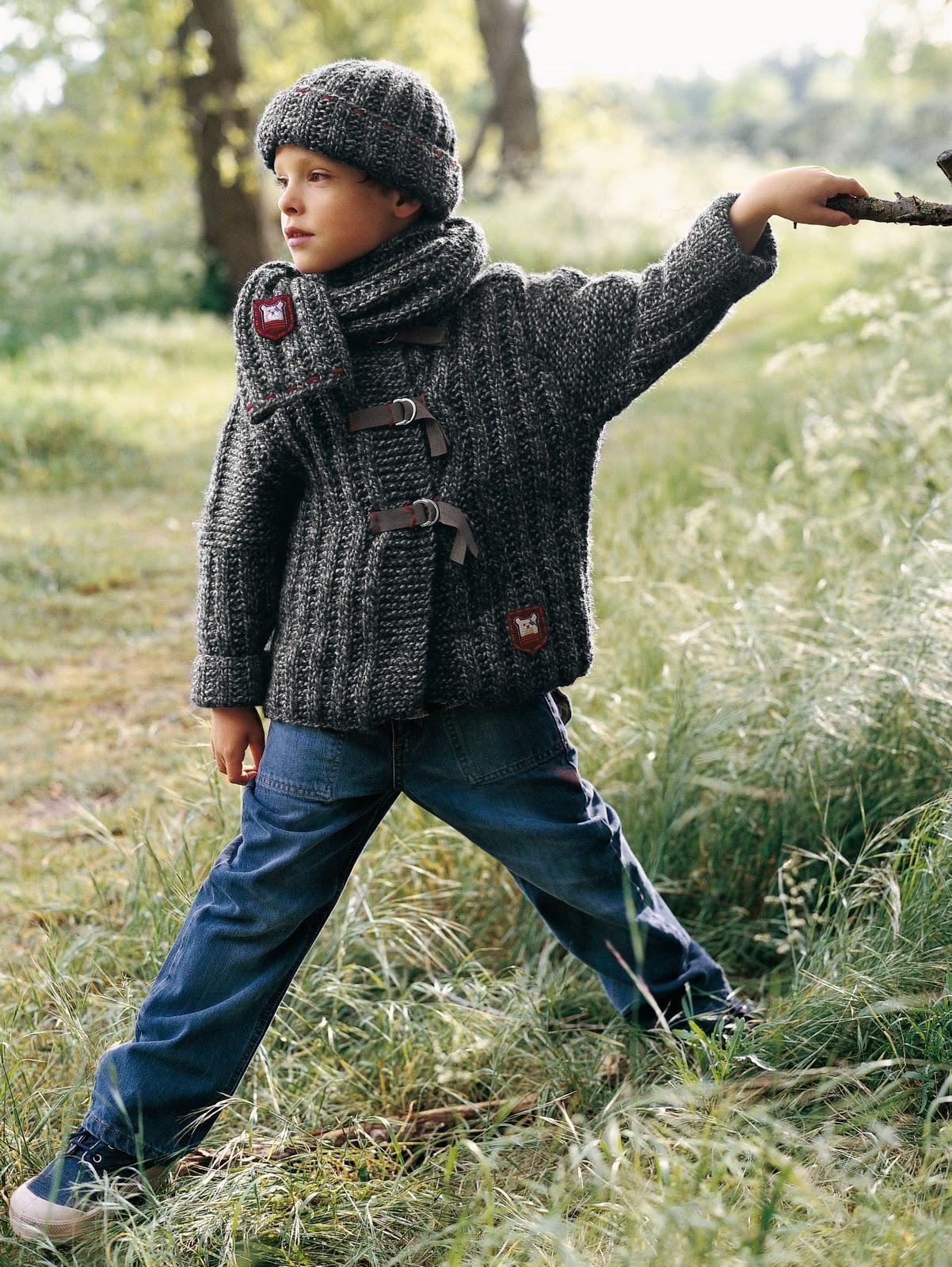 0ecb7a81acda Patron gratuit  Veste, bonnet et écharpe pour petit garçon – Knit Spirit