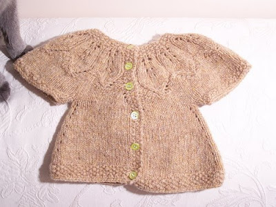 Autumn Leaves Free Baby Cardigan