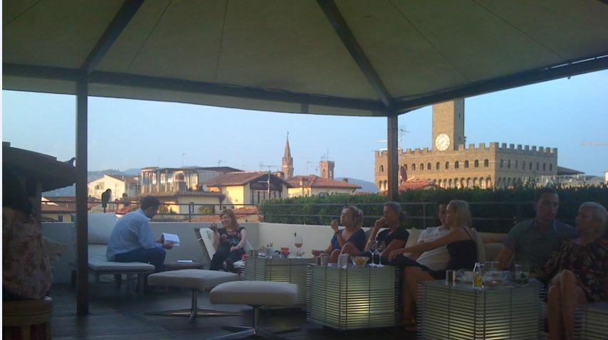 Io Amo Firenze Aperitivo sulla terrazza dellhotel