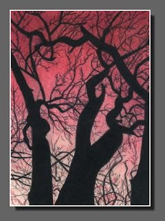 Silhouette Sky #24 ATC by Dee Overly