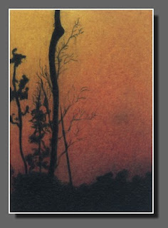 Silhouette Sky #13, Colored Pencil, Dee Overly