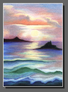 Silhouette Sky#54,Colored Pencil,Dee Overly