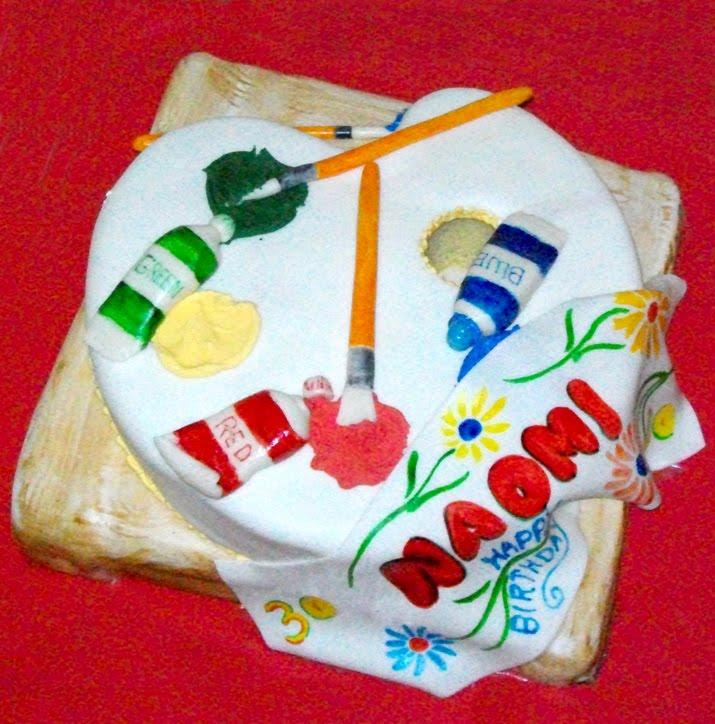 Creative Cakes: Art Major's 30th Birthday Cake